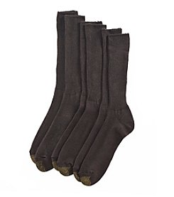 GOLD TOE® Men's Brown 3-pk. Extended Size 'Fluffies' Socks