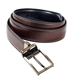 John Bartlett Statements Men's Brown Reversible Leather Belt