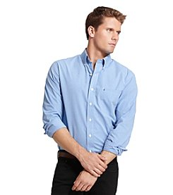 Izod® Men's Big & Tall Long Sleeve Peached Check Buttondown Shirt