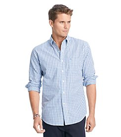 Izod® Men's American Dream Big & Tall Long Sleeve Tattersal Buttondown Woven Shirt