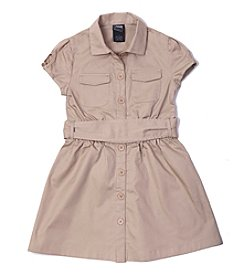 French Toast® Girls' 4-14 Canvas Safari Dress