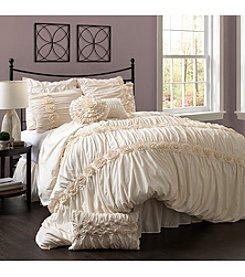Lush Decor Darla 4-pc. Ivory Comforter Set