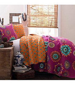 Lush Decor Adrianne Fuchsia 3-pc. Quilt Set