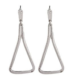Erica Lyons® Silvertone Metal Earrings