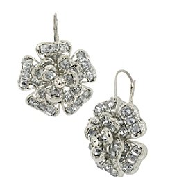 Betsey Johnson® Crystal Flower Drop Earrings
