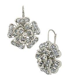 Betsey Johnson® Crystal Flower Drop Earrings