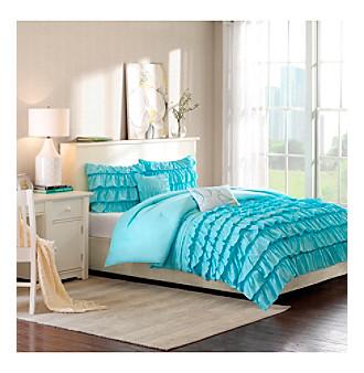 Intelligent design waterfall 5 pc comforter set bon ton for Waterfall set design