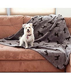 Carolina Pet Company Plush Embossed Tossed Dog Throw