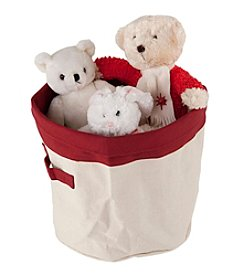 Carolina Pet Company Red Heavy Canvas Toy Bucket