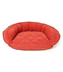 Carolina Pet Company Microfiber Quilted Bolster Bed with Moister Barrier Protector