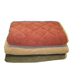 Carolina Pet Company Diamond Quilt Microfiber and Cloud Sherpa Throw