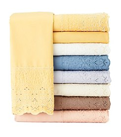 Elite Home Products Savannah 500-Thread Count Cotton Rich Dutch Lace 4-pc. Sheet Set