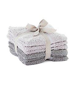LivingQuarters 6-pk. Tonal Gray Washcloths