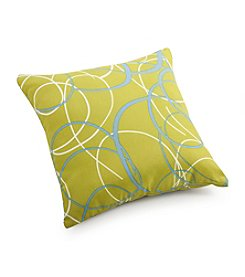 Zuo Modern Olive Green Base with Pattern Outdoor Pillow