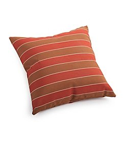 Zuo Modern Brown and Clay Wide Stripe Outdoor Pillow