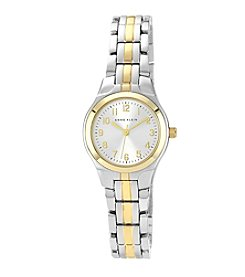 Anne Klein® Two-Tone Bracelet Watch with Easy-to-Read Dial
