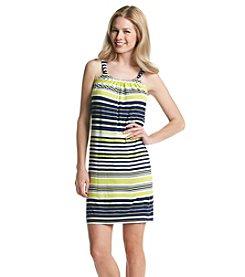 Spense® Sleeveless Striped Short Dress