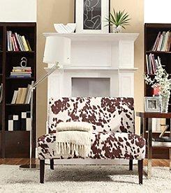 Home Interior Santa Fe Cowhide Print Armless Settee