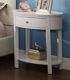 Home Interior Andover White End Table