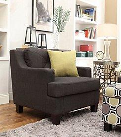 Home Interior Frederick Dark Grey Linen Arm Chair