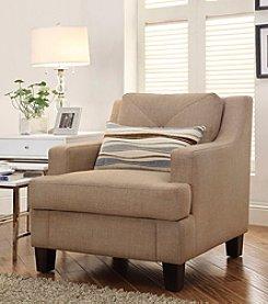 Home Interior Frederick Tan Linen Arm Chair