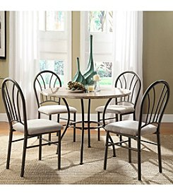Home Interior Brookdale 5-pc. Faux Marble Casual Dining Set