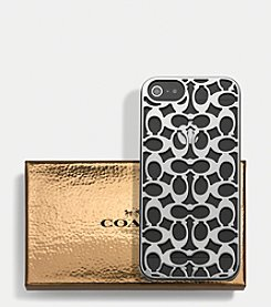 COACH IPHONE 5 CASE IN PIERCED C MOLDED PLASTIC