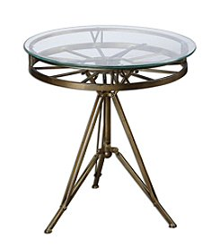 Uttermost Tevi Brass Clock Table