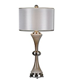 Uttermost Amerson Taupe Grey Glass Table Lamp