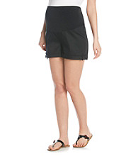 Three Seasons Maternity™ Solid Cuffed Shorts With Bow