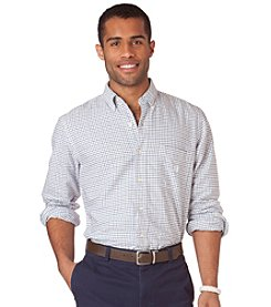 Chaps® Men's Oasis Blue Long Sleeve 'Tatersall' Oxford Buttondown Shirt