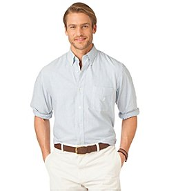 Chaps® Men's Medium Oxford Blue Long Sleeve Bar Striped Oxford Buttondown Shirt