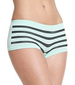 B intimates Mint/Black Stripe Seamless Boyshorts