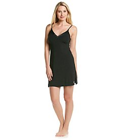 Calvin Klein Black Essentials V-Neck with Satin Chemise