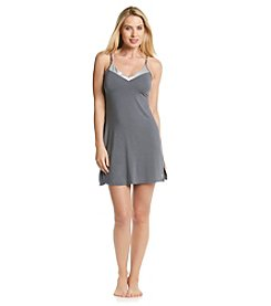 Calvin Klein Charcoal Essentials V-Neck With Satin Chemise