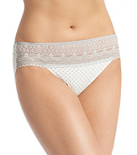 Naomi & Nicole® Silver Dot Lace Trim Hipster