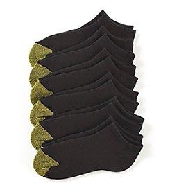 GOLD TOE® 6-Pack Black Cushion-Lined Socks
