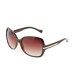 Jessica Simpson Brown Square Glamour Sunglasses