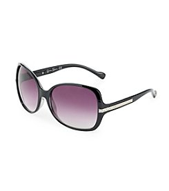 Jessica Simpson Black Square Glamour Sunglasses