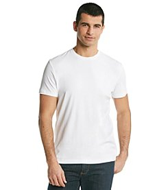 Calvin Klein Men's White Short Sleeve Liquid Cotton Crewneck Tee