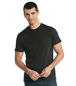 Calvin Klein Men's Black Short Sleeve Liquid Cotton Crewneck Tee