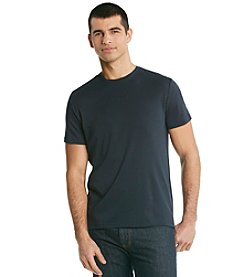 Calvin Klein Men's Officer Navy Short Sleeve Liquid Cotton Crewneck Tee