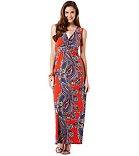 Rafaella® Print Knit Maxi Dress