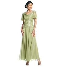 J Kara® Mock Flare Sequin Dress