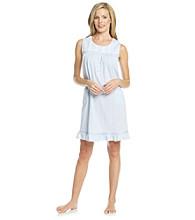 Aria® Knit Short Sleeveless Gown - Blue / White Stripe