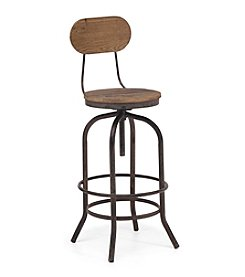 Zuo Era Distressed Twin Peaks Bar Chair