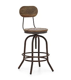 Zuo Era Distressed Twin Peaks Counter Chair