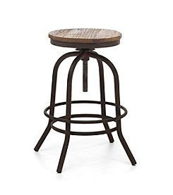 Zuo Era Distressed Twin Peaks Counter Stool