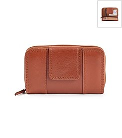 Relativity® Saddle Small Tab Zip Around Wallet