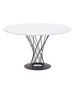 Zuo Modern White Spiral Table